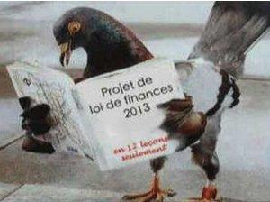 Pigeon entrepreneur Pierre Moscovici Projet de lois de finances 2013