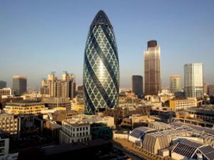 Le quartier d'affaires à Londres