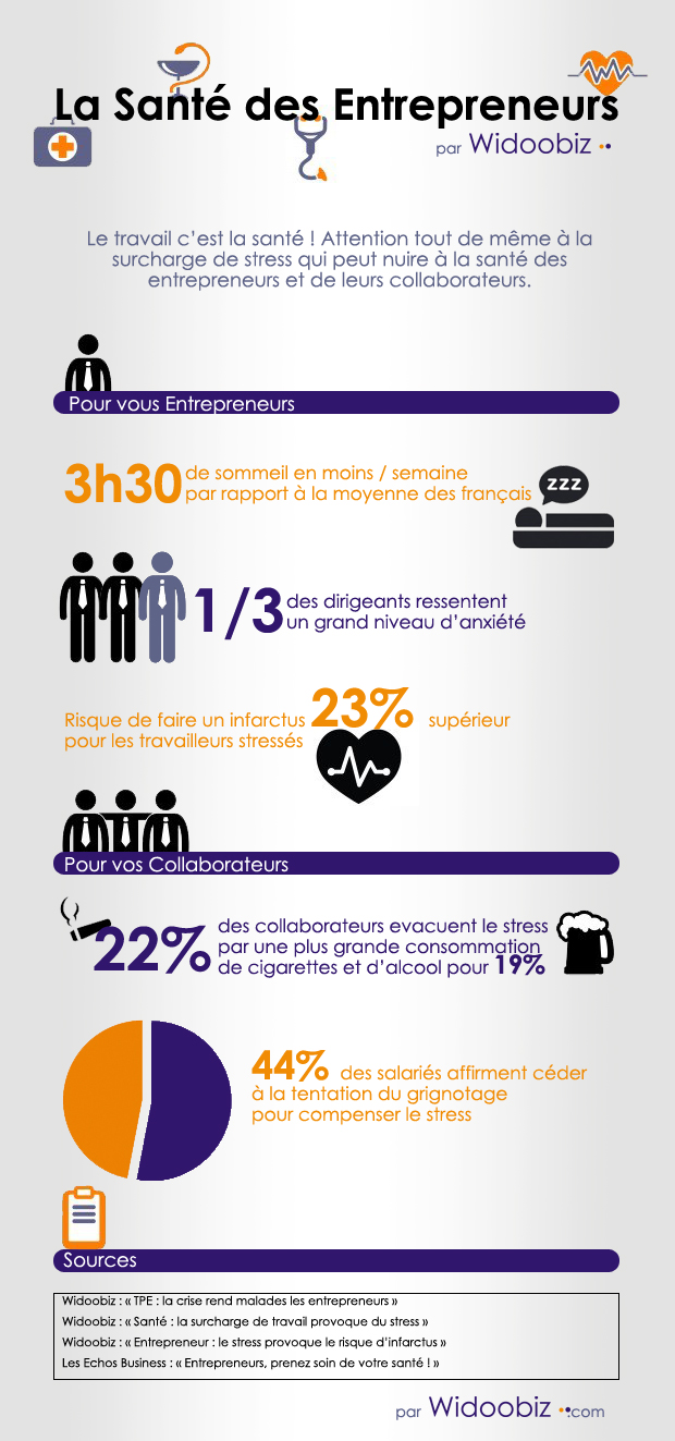 infographie les entrepreneurs n gligent leur sant. Black Bedroom Furniture Sets. Home Design Ideas