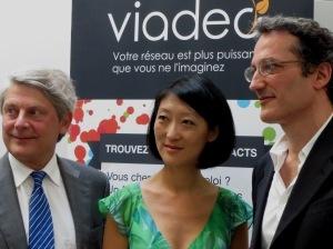 Yves Fouchet, Fleur Pellerin et Dan Serfaty