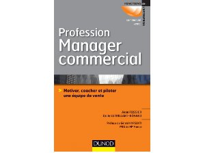 Profession Manager Commercial Editions Dunod