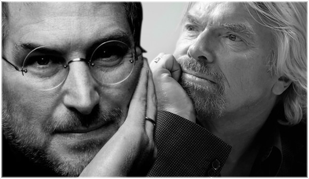 Richard Branson et Steve Jobs