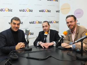 Gael de Kerdanet (Carpediem QM) et Thierry Hubert (Hub&Co) au micro de Benoît Duchatelet