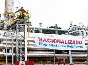 Bolivie nationalisation
