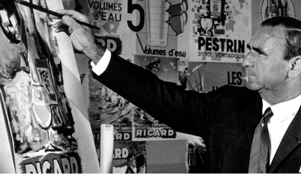 Paul Ricard peignait lui-même ses illustrations publicitaire
